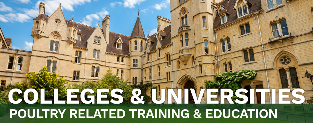 Colleges & Universities - Poultry Related Training & Education